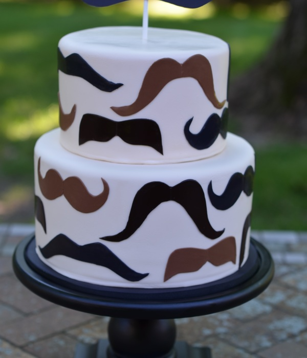 Fathers Day Mustache Cake