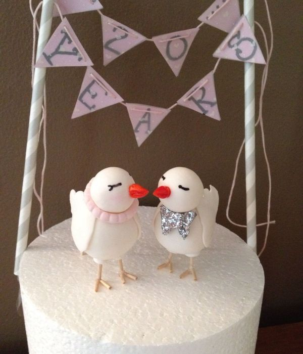 For My 20Th Wedding Anniversary Love Birds Made From Gum Paste