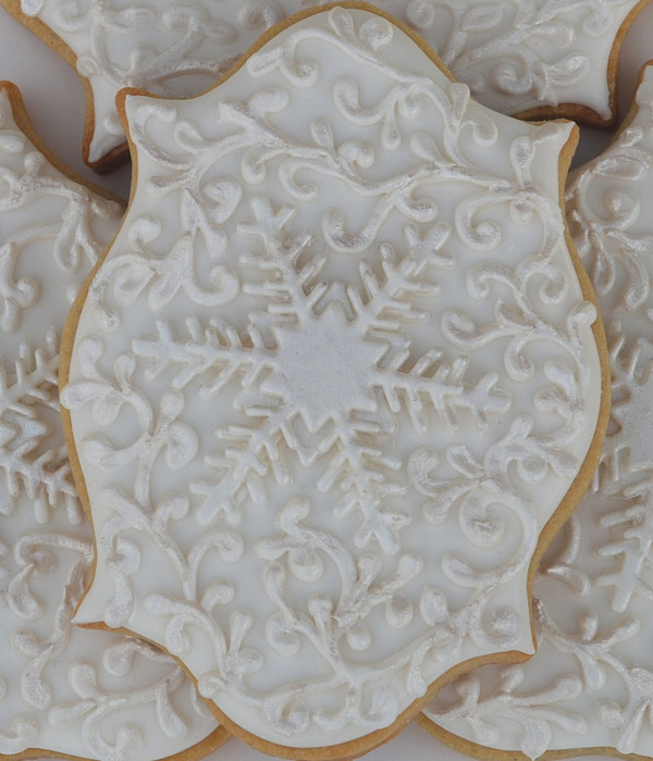 Winter Wonderland Holiday Snowflake Cookies