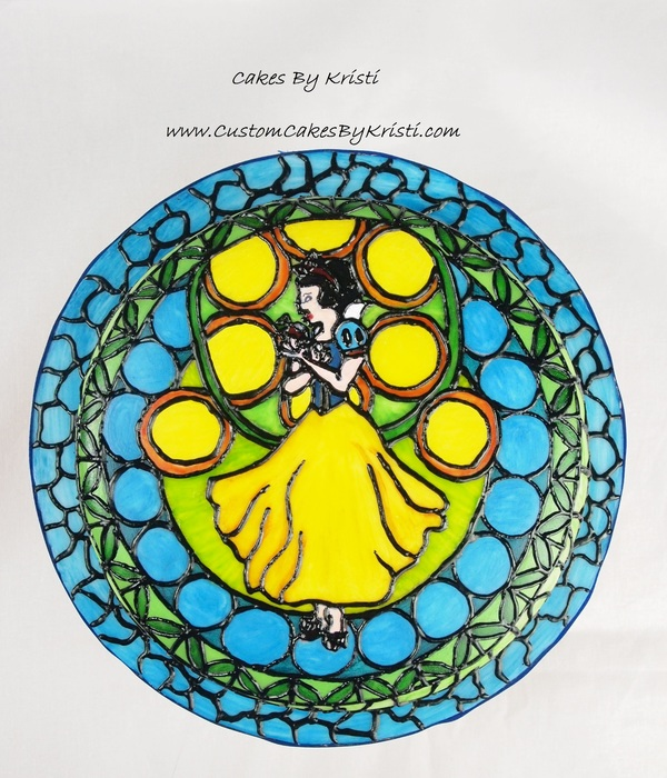Snow White Stained Glass Cake