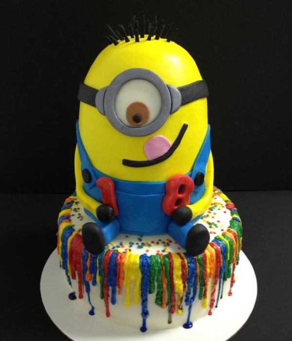 Despicable Me Cake For An 18 Year Old That Is Totally Obsessed With These Guys I Hated To See Him Leave Wouldve Loved To Have Kept Him Fo