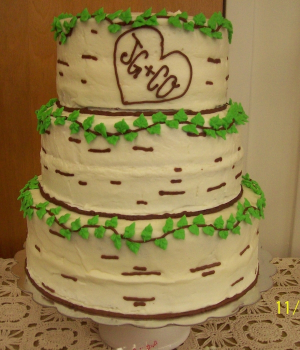 Birch Cake Decorating Photos