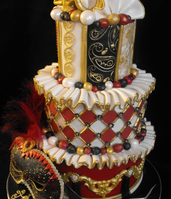 Masquerade Ball Birthday Cake - CakeCentral.com