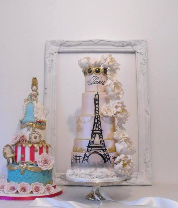 Paris Themed Wedding Cake
