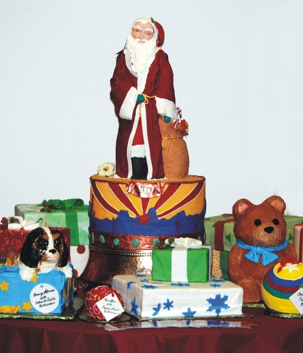 Santa With Presents And Toys