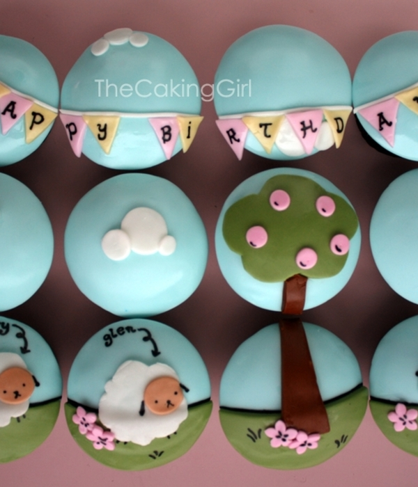 Cute Sheep Cupcakes!