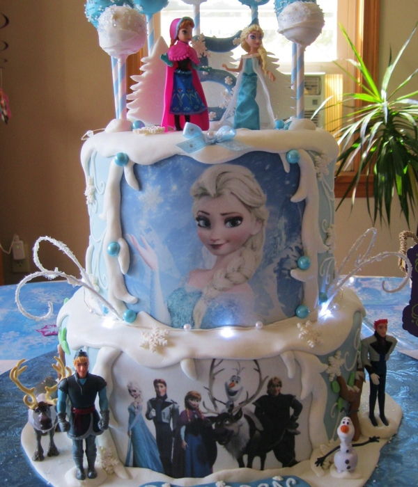 Frozen Themed Cake For My Grandaughter Complete With...