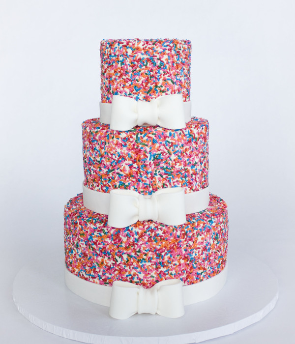 Girly Sprinkle Cake