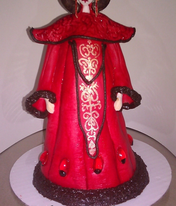 Star Wars Queen Amidala 3D Birthday Cake