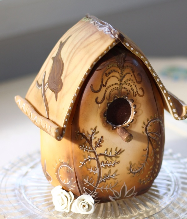 Birdhouse Cake For My Grandma Today Was My Sweet Grandmothers Funeral I Was Asked To Make A Cake For The Reception And Due To Prior Schedu...