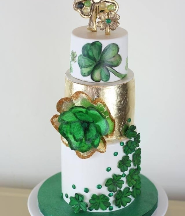4 Leaf Clover 30Th Birthday Cake Modeling Chocolate Topper...