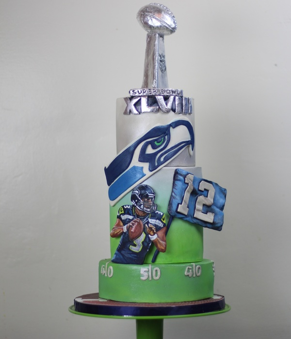 Seahawks Super Bowl Cake