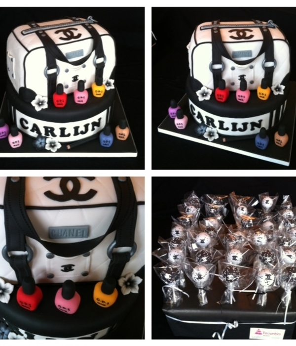 Chanel Bag And 35 Chanel Cakepops