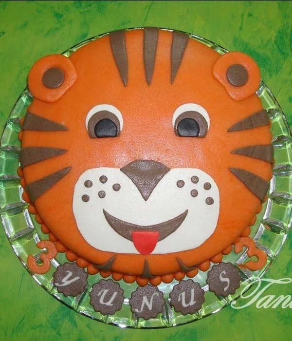 Marzipan Tiger Cake For The 3Th Birthday
