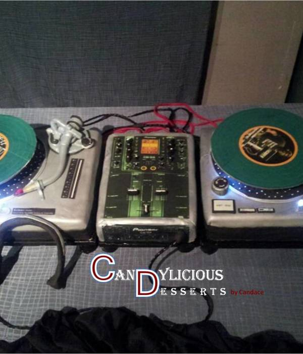 Motorized Dj Turntables And Eq - All Edible Except For 3-...