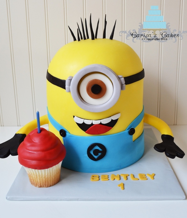 Superb Top Despicable Me Cakes Cakecentral Com Funny Birthday Cards Online Elaedamsfinfo