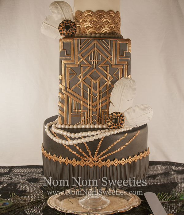 Great Gatsby/art Deco Cake