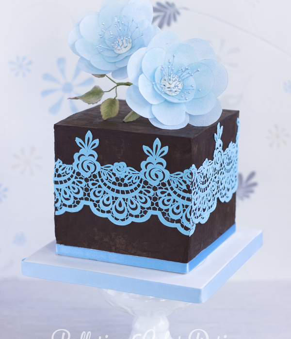 Iced Blue Wafer Paper Beauty