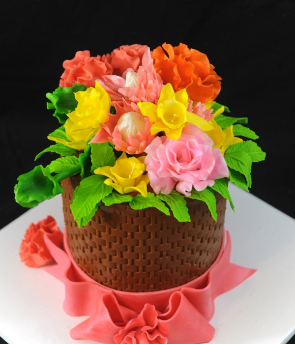 Little Flower Basket Cake