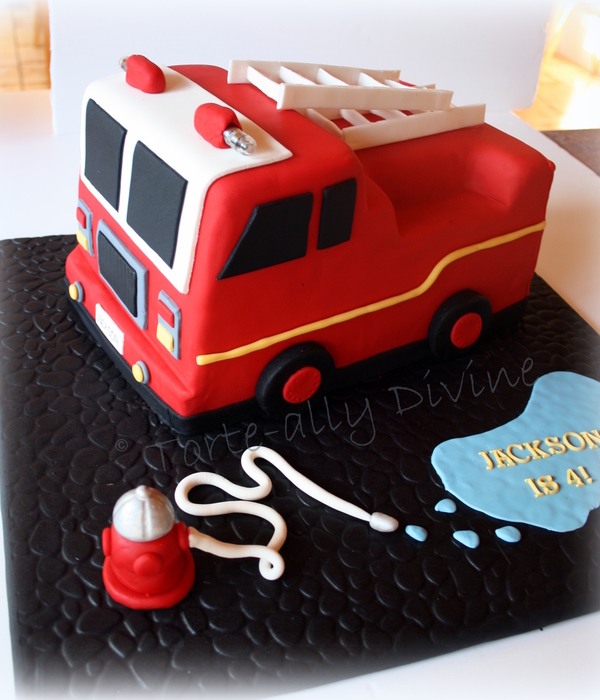 Fire Engine Cake For My Little Mans 4Th Birthday All Edible...