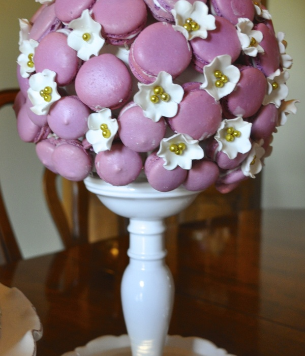 Macaron Topiary With Sugar Flowers