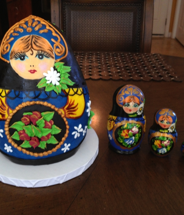 Matryoshka Doll Cake On The Left