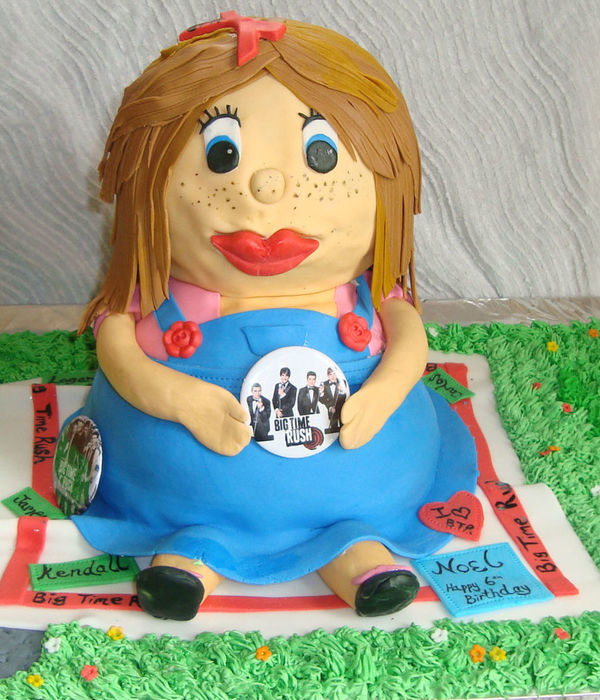 Big Time Rush Cartoon Fan Birthday Cake