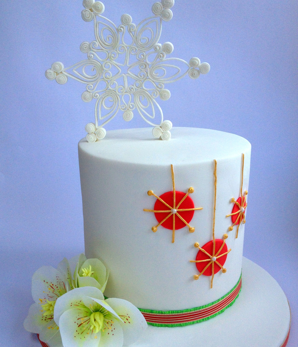 Contemporary Christmas Cake