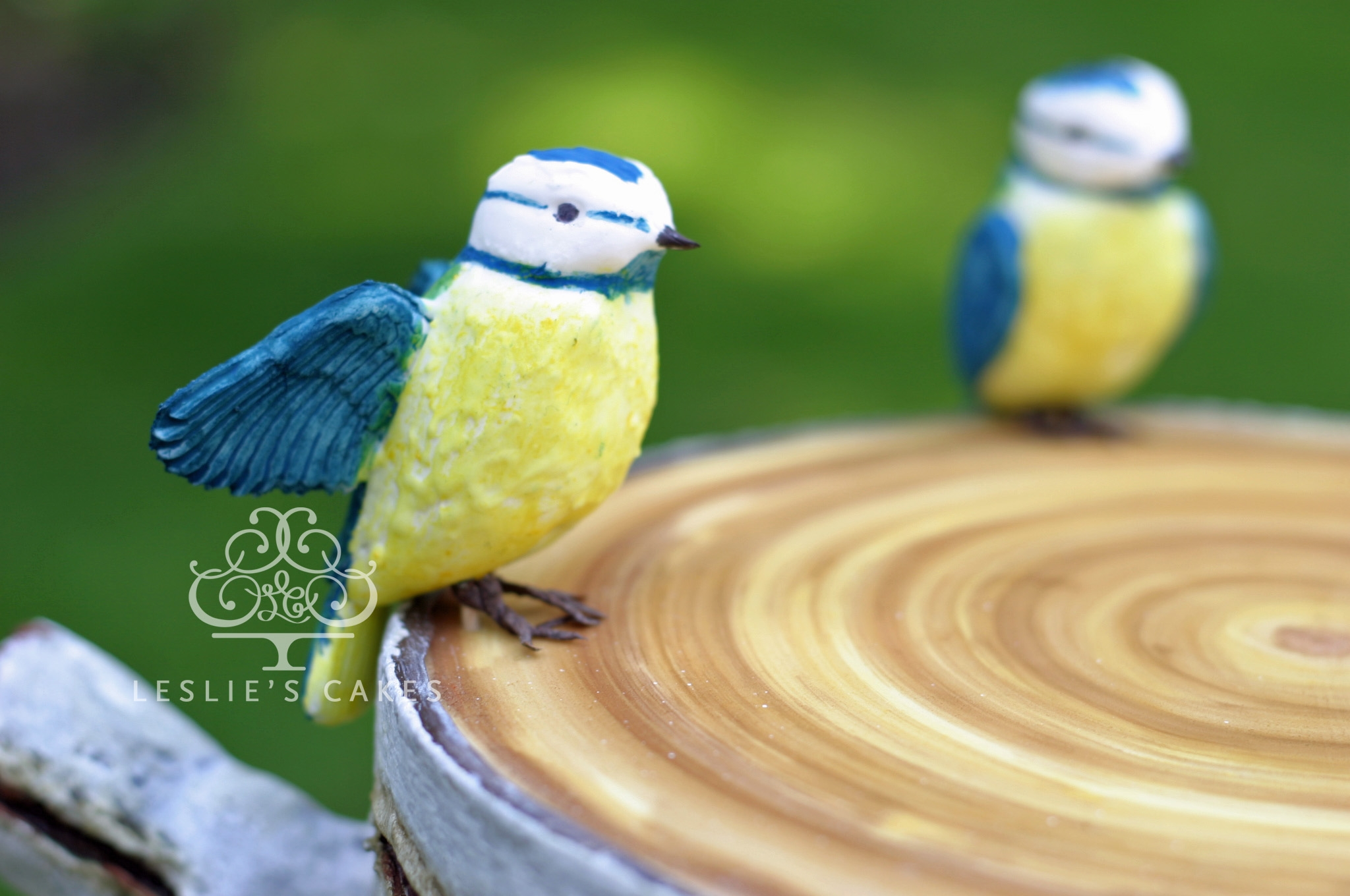 Close Up Of Blue Tit Modelled Out Of Sugar Flower Paste Gum Paste