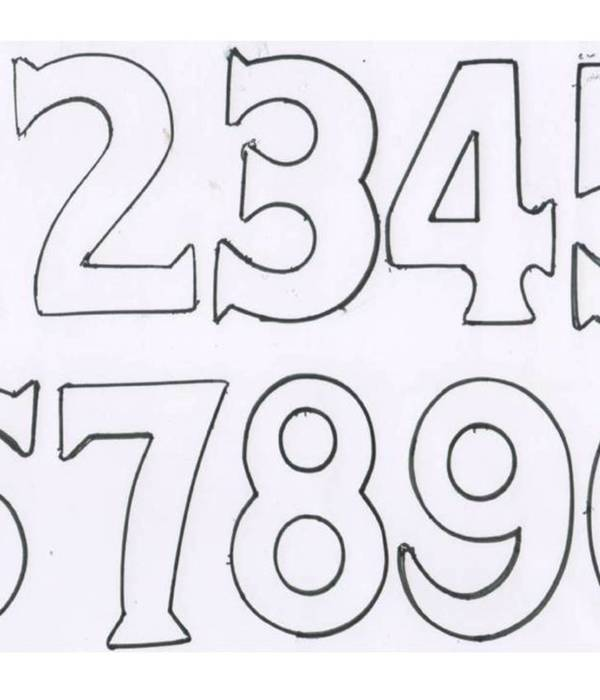 number 3 cake template - numbers cake decorating photos