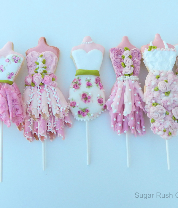 Princess Dress Cookie Pops Made With Royal Icing And...
