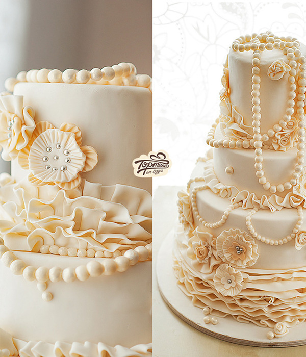 Pearl Wedding Cake Perfection
