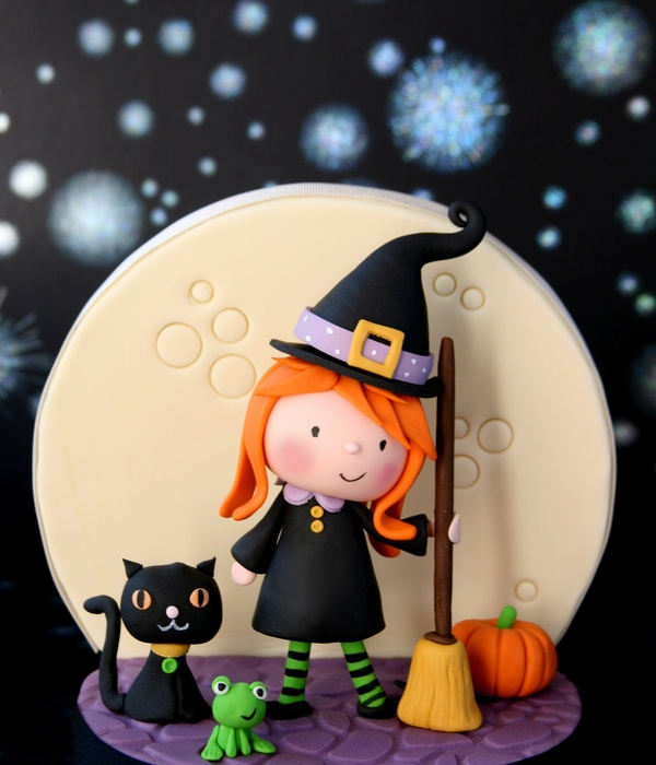 Little Witch & Friends Cake Topper