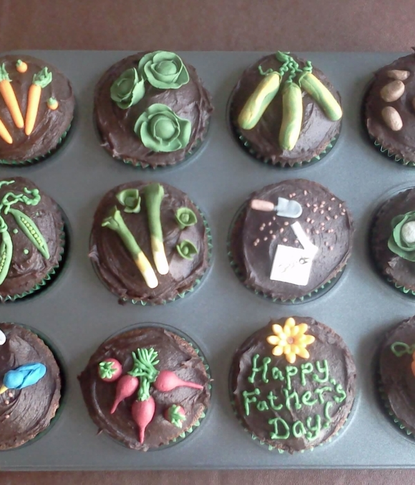 Father's Day Vegetable Garden Cupcakes
