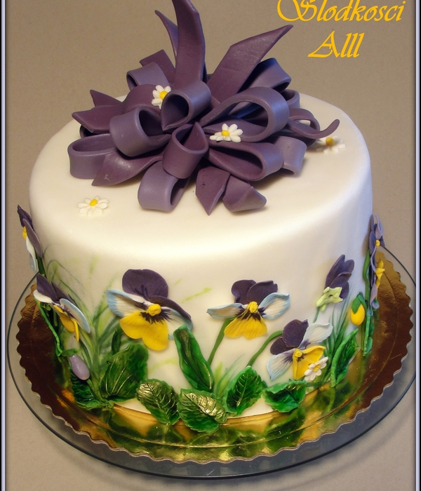 Top Pansy Cakes Cakecentral Com