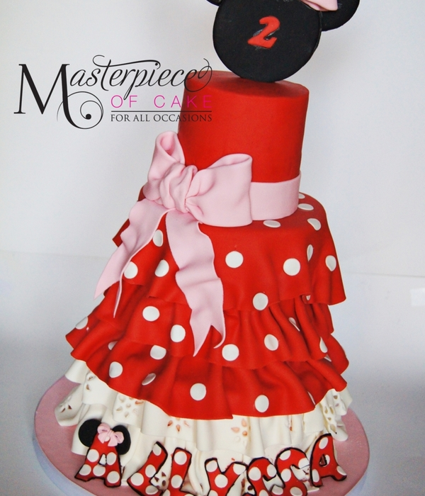 Minnie Mouse Dress Cake