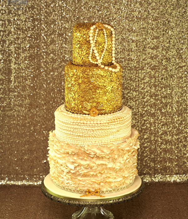 2015 Design - Golden Sequin Cake