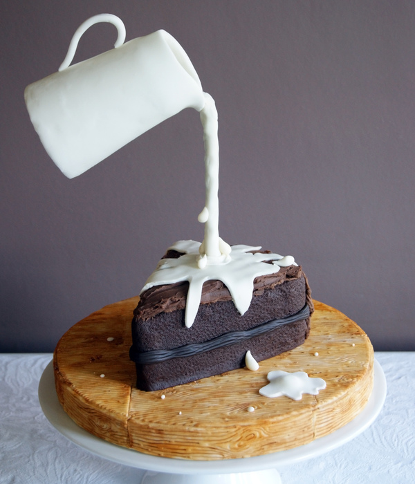 Gravity Defying Chocolate Cake