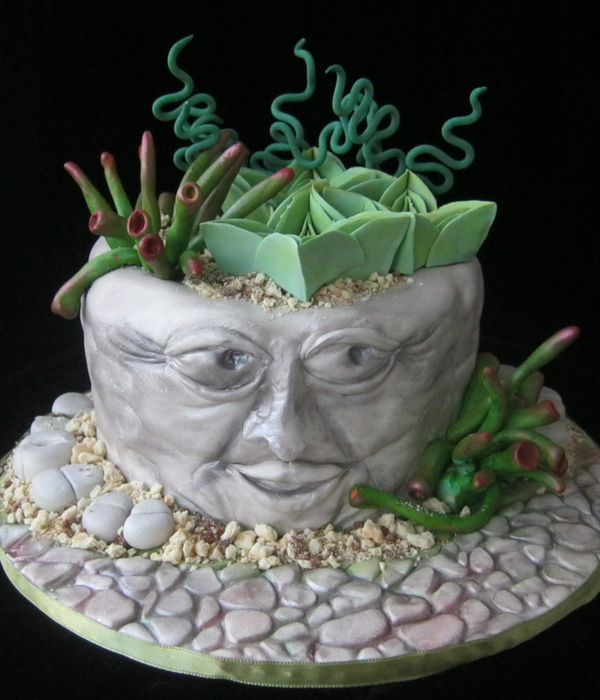 Stone Pots With Succulents All Is Edible