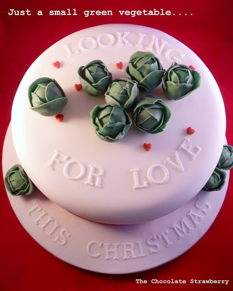 Brussel Sprout Christmas Cake