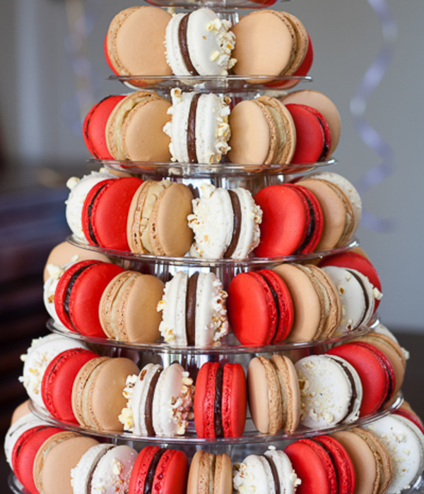 Macaron Tower With Popcorn And Malteser Cherry Ripe And...
