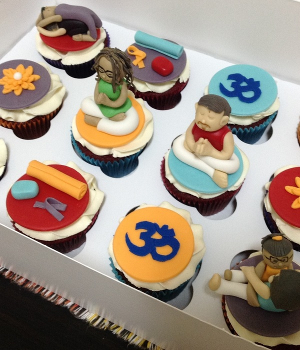 Yoga Theme Cupcakes For A Hen Party