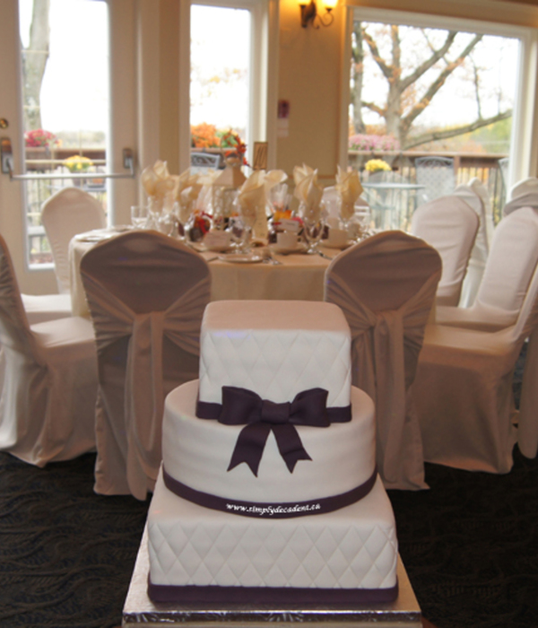3 Tier Square Amp Round Wedding Cake With Quilting And...