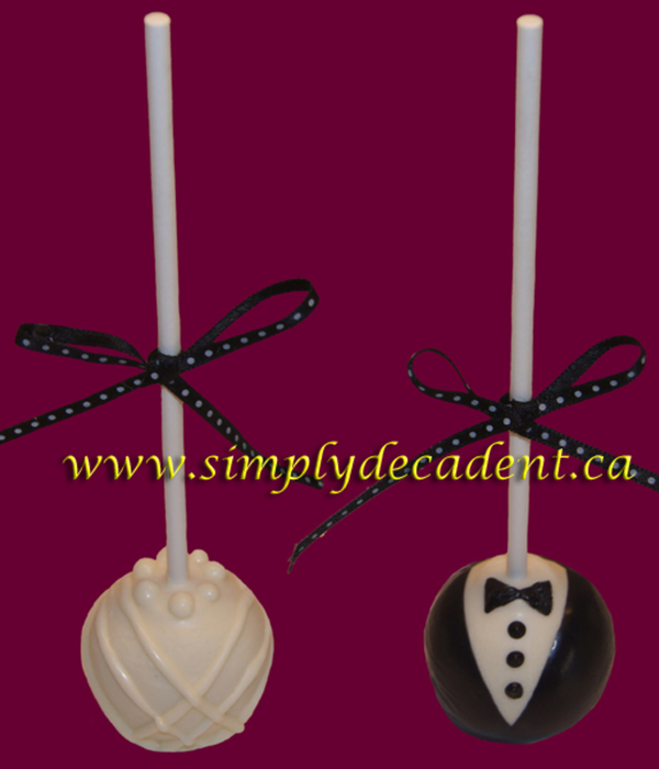 Bride Amp Groom Cakepops
