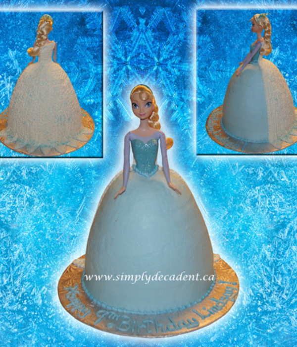 3D Disney Frozen Elsa The Snow Queen Cake
