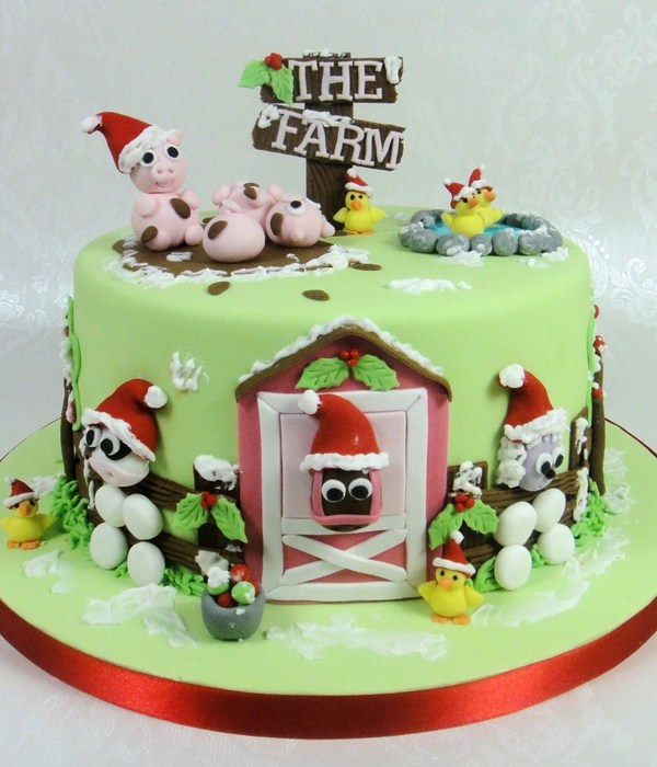 Christmas Farmyard Cake