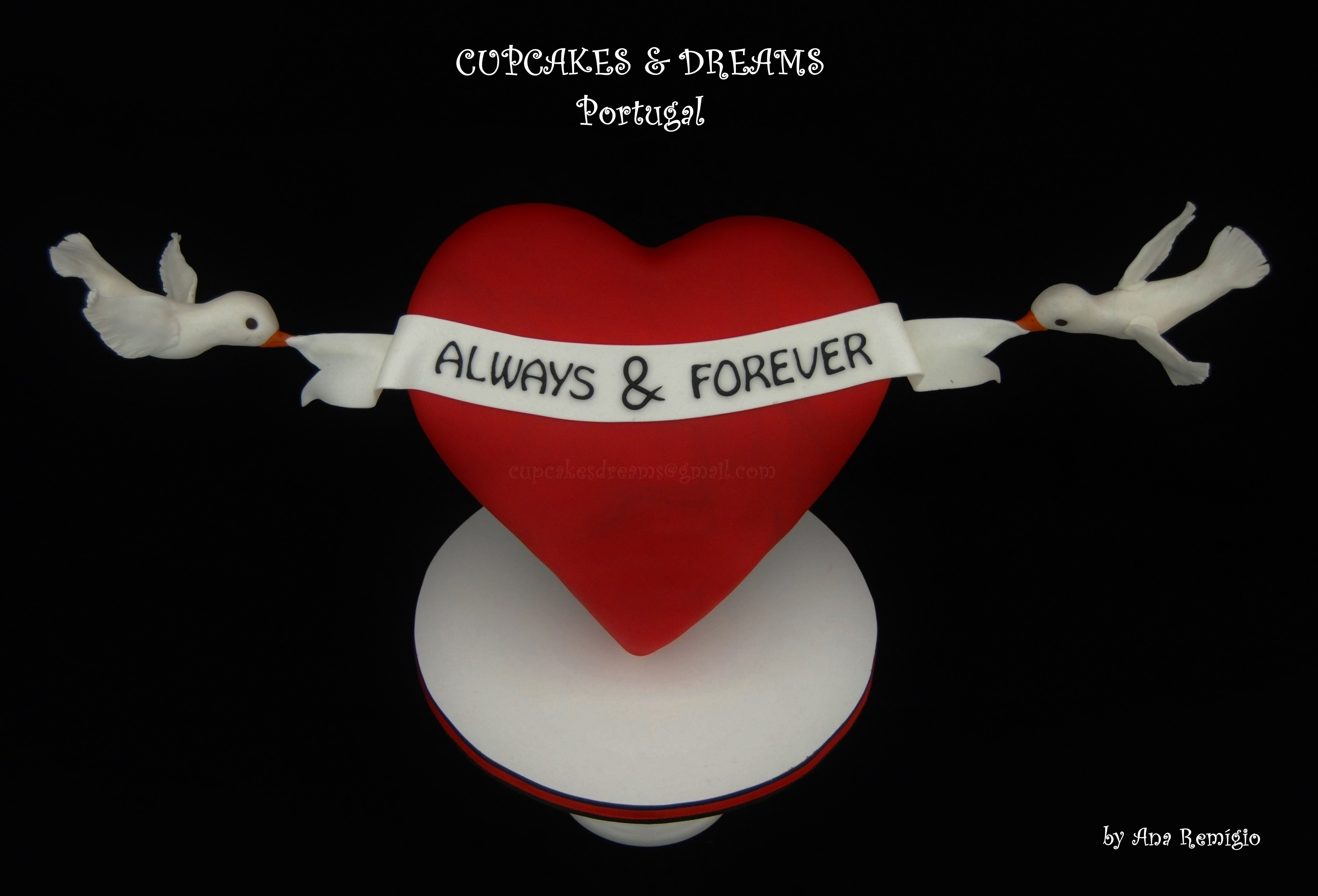 Always & Forever 3D Defying Gravity Heart Cake