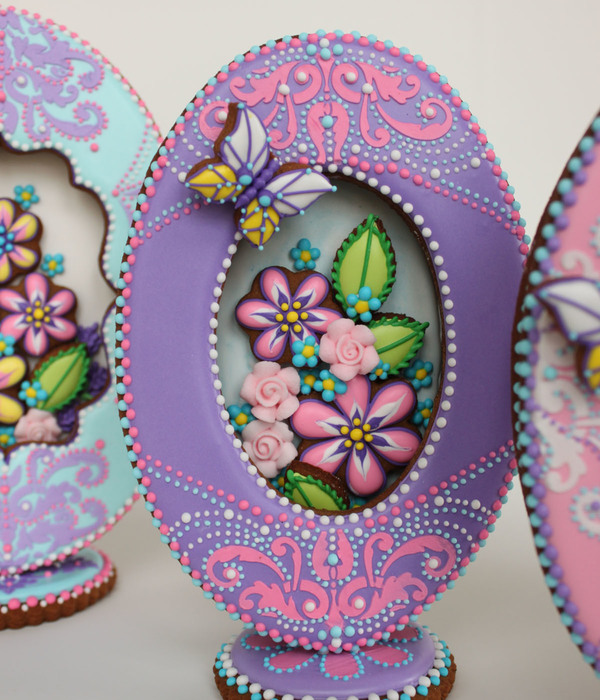 3-D Purple Faberge Egg Cookie