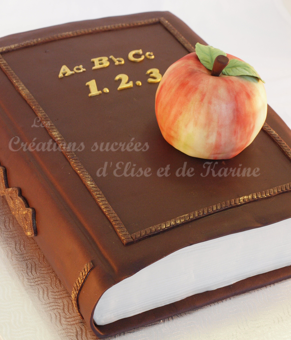 The Teacher's Book With An Apple