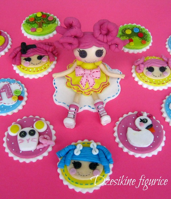 Lalaloopsy Cupcake Topper And Fondant Figurines